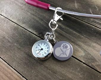 Heartbeat stethoscope watch • Stethoscope clock •