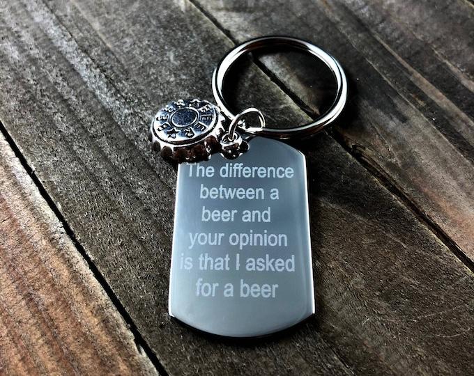 Funny Beer keychain • beer lover keychain