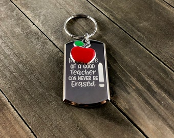 The influence of a good teacher can never be erased • Teacher gift