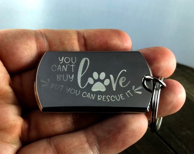 Animal rescue keychains • Custom engraved keychain