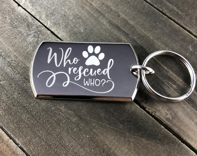 Animal rescue keychains • Who rescued who