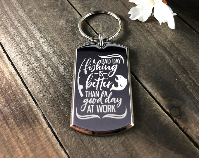 A bad day fishing • Fishing keychain