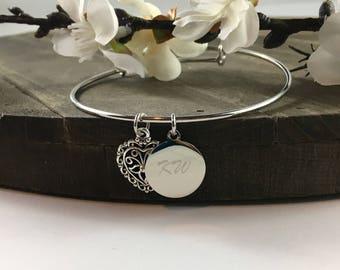 Filigree Heart Charm Bracelet
