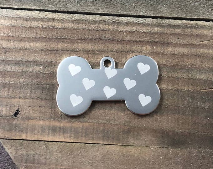 Heart pattern dog tag