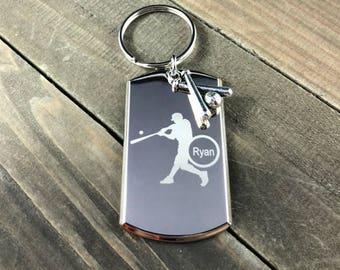 Love baseball keychain • baseball keychain