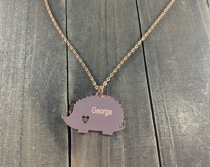 Hedgehog necklaces • Custom Pet keepsakes