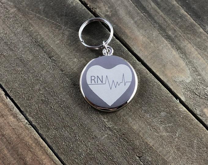 Nurse stethoscope ID tag • Custom engraved stethoscope tag