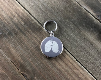 Respiratory therapist Stethoscope ID tag • RT gift