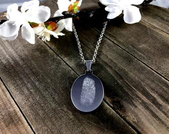 Custom fingerprint necklace • Fingerprint gifts