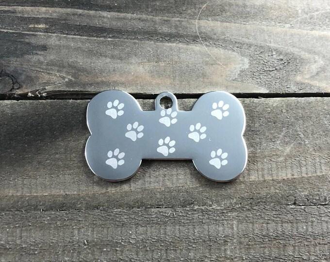 Flower pattern dog tag