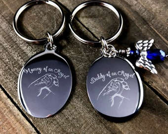 Mommy of an angel • Forever in my heart • Memorial keychain• Infant loss• Child loss• Pregnancy loss• Loss of child •Loss of baby•  keepsake