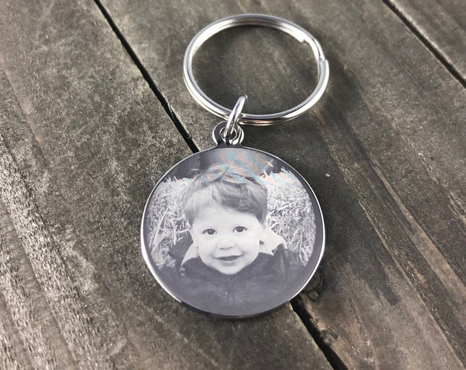 Photo engraved keychain  • Keepsake keychain