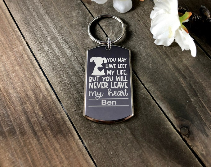 Never Leave my heart • Memorial keychains