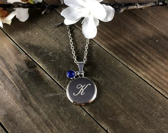 Custom birthstone necklace • Birth month necklace