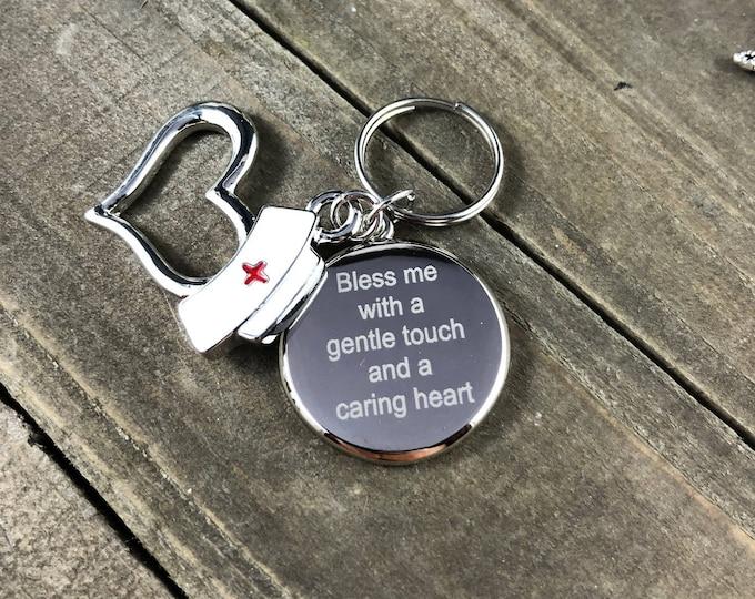 Custom engraved stethoscope tag - Nurse Life