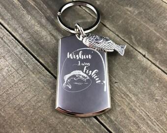 Wishing i was fishing keychain • Fishing keychain