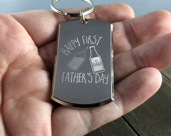 First father's day • Father's Day gift • Gift for dad • Father's Day keychain