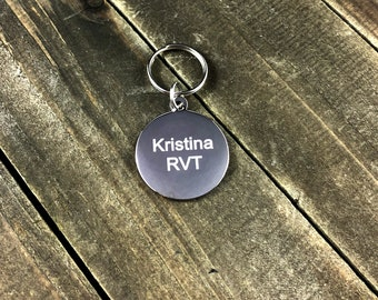 Custom engraved stethoscope tag • Personalized ID tag
