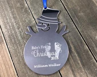 Engraved Christmas ornament • Custom tree decoration