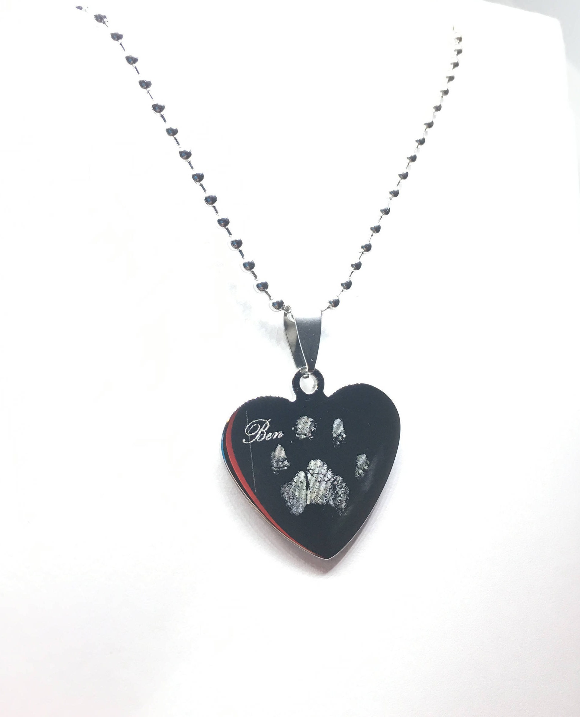 real pawprint necklaces engraved keepsakes personalized gift