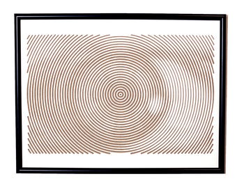 Clear Mind / Artistic decorative wall art with optical illusion / Luxury / Gift / Line Halftone