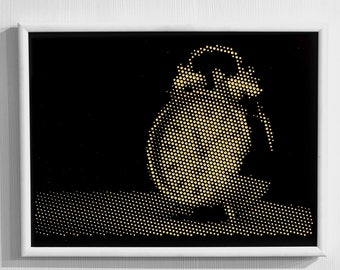 Pointing Arrows / Artistic decorative wall art with optical illusion / Luxury / Gift / Dot Halftone