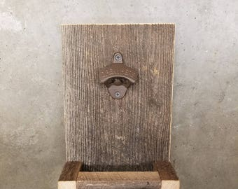 Rustic Barn Wood Bottle Opener