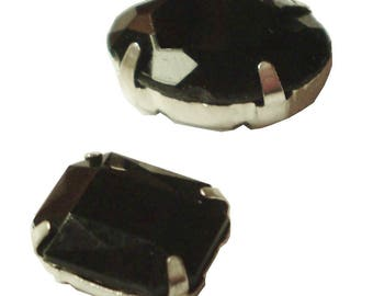 2 cabochons set on Support Metal thimbles.
