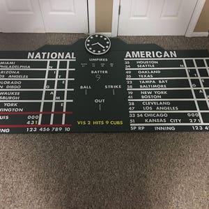 Wrigley Field Scoreboard Extra Large Canvas Set Wrigley