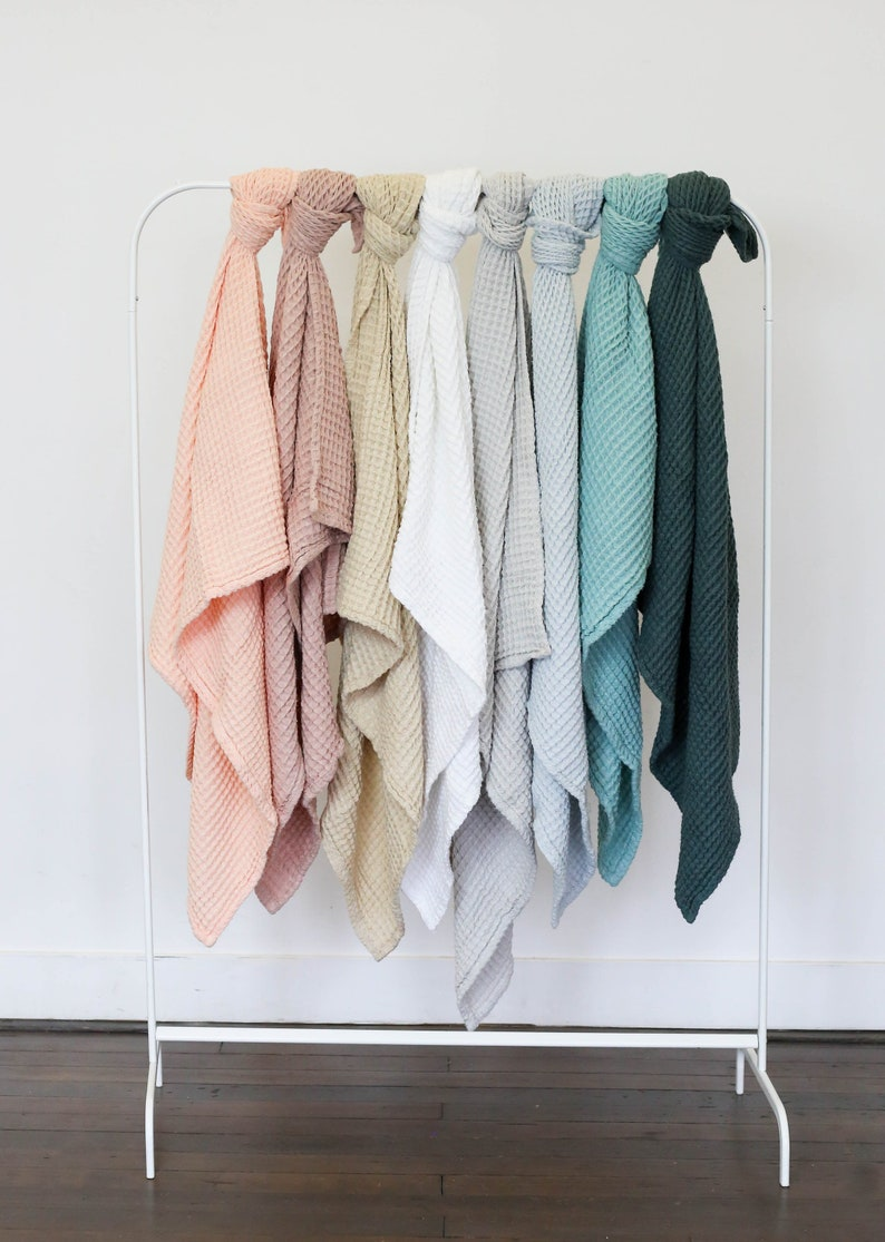 New! Cloud Blankets in natural earthy colors - made from soft and lofty  waffle gauze - 100% cotton - baby girl, baby boy, gender neutral