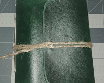 Hand made leather Adventurer's Journal by Direwolf Leatherwork