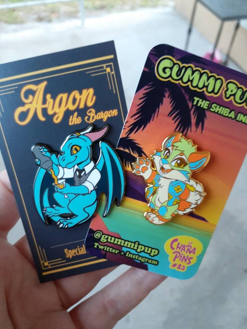 Gummi Pup CharaPins #83 Pin Bundle Argon the Bargon CharaPins #107