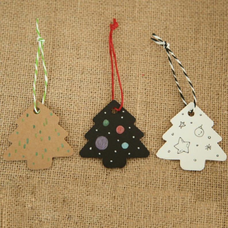 100pcs Christmas Gift Craft Tag Hang Paper//Kraft Tag Wedding Label Luggage Decor