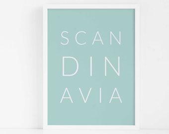 Scandinavia FRAMED Wall Art|Large Wall Art|Scandinavian Home Decor|Scandi|Living Room Decor|Bedroom Decor|Modern Art