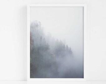 Nordic Dark Forest PRINTABLE|Woodland Print|Tropical Wall Art|Living Room Decor|Bedroom Decor|Digital Art|Modern Art|Botanical