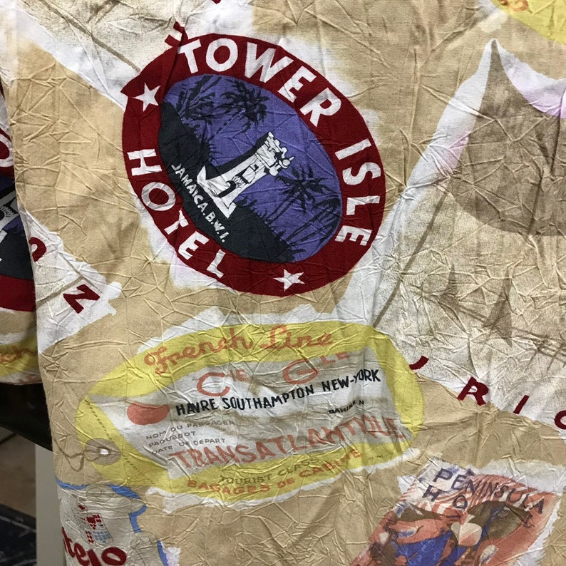 Travelers prewashed rayon ALOHA TIKI SHIRT Size L only one