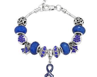 Rheumatoid Arthritis Awareness Handmade Charm Bracelet