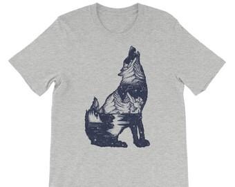 Wolf , Wolf tshirt, Wolf t shirt, Wolf shirt, wolf t shirt custom hand screen printed, A279