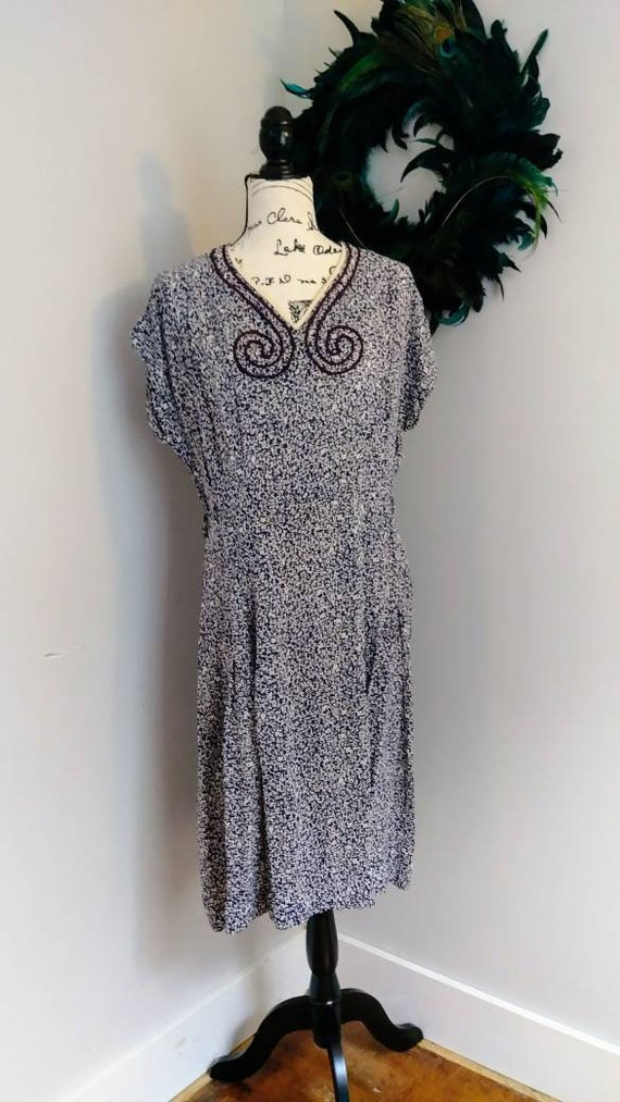 1940's Union Label Day Dress