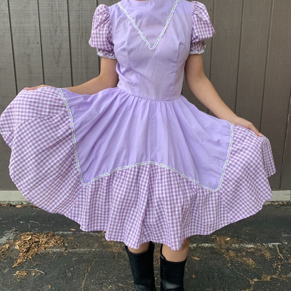 Vintage Square Dance, Cottagecore Dress