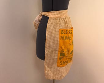 Bless our home Shalom apron