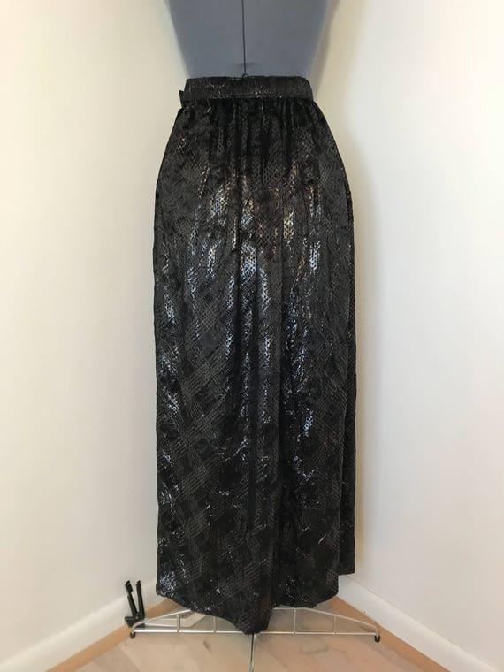 1970s Silk Adolfo Maxi skirt