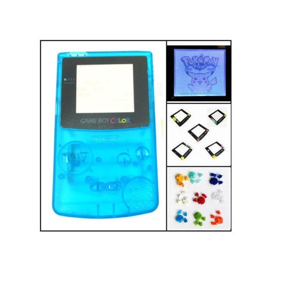Gbc Nintendo Game Boy Color Frontlit Frontlight Front Light Full Mod Kit Clear Blue Pick Your Lens Buttons