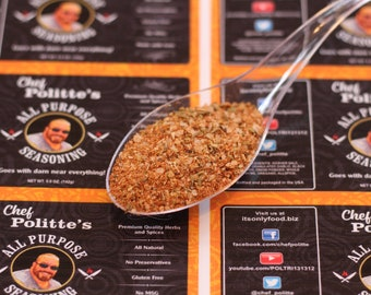 All Purpose Seasoning A 5-oz bag of all purpose seasoning mix that is not like anything you've tried! Herbs and spices All purpose seasoning