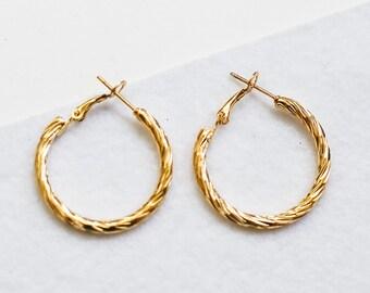 Gold hoop earrings  b6d11c70bb