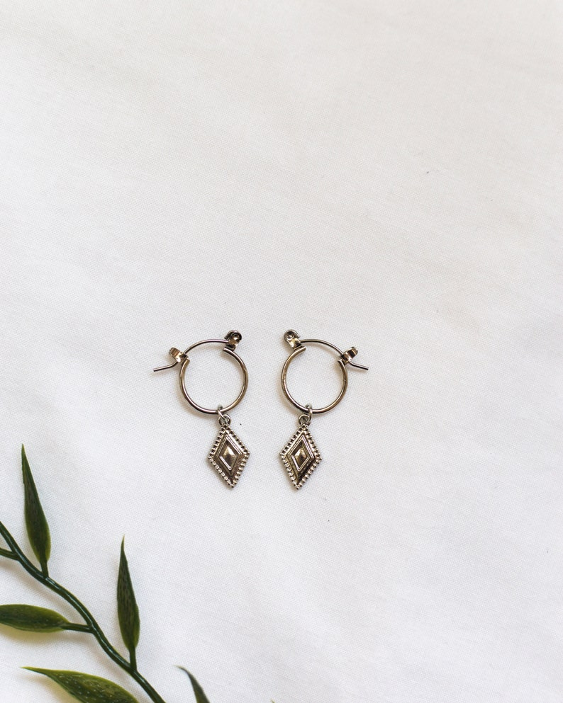minimalist hoops delicate earrings minimal earrings hoop earrings Small hoops tiny earrings charm hoops silver hoop earrings