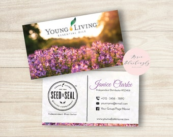 Young living business cards etsy young living essential oils business card digital design template colourmoves