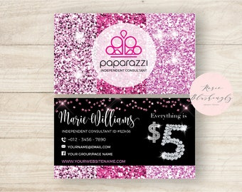 Glitter business etsy paparazzi business cards free personalized paparazzi jewelry consultant cardglitter for vistaprint or home printing colourmoves