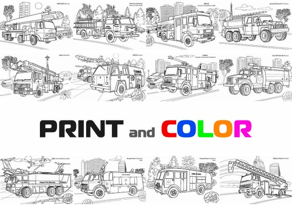 Printable Fire Truck Coloring Pages Pictures For Kids Free Prnt ... | 403x570