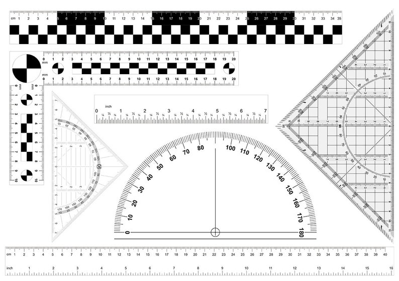 image about Protractor Printable Pdf named Ruler printable Ruler clipart Rule electronic Protractor printable  Scale ruler Print and lower Inclinometer Corner Paper ruler